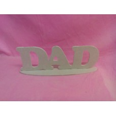 4mm Thick MDF Standing DAD Plaque 295mm wide